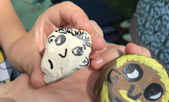 Painted rocks were popular