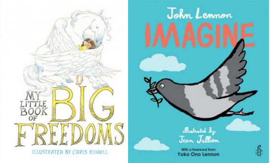 My Little Book of BIG Freedoms and Imagine book cover