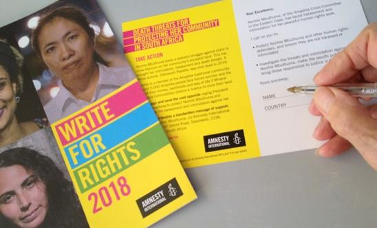 Writing for Rights
