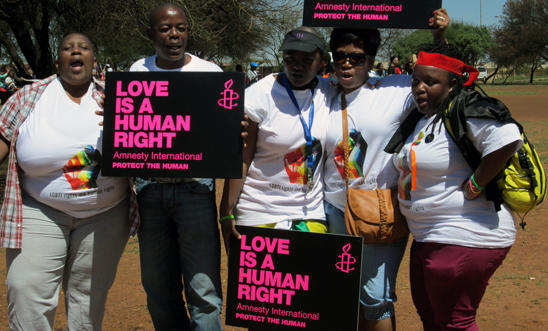 Amnesty activists at Soweto Pride 2013