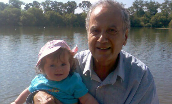 Kamal Foroughi and his granddaughter