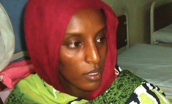 Meriam Yahia Ibrahim Ishag in her prison cell the day after she gave birth