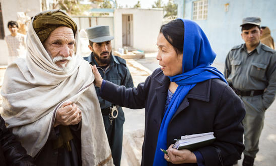 Sherifa Shahab, a Police Ombusdman and human rights defender in Afghanistan