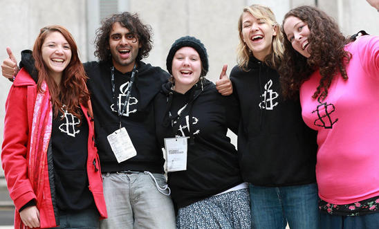 Students at Amnesty student conference in London, 2010