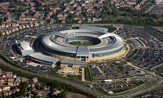 The Government Communications Headquarters base in Gloucestershire, England