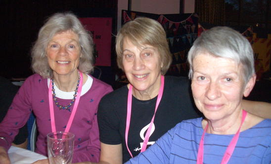Three members of the Minehead Group at the AIUK AGM