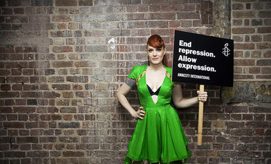 Ana Matronic from The Scissor Sisters