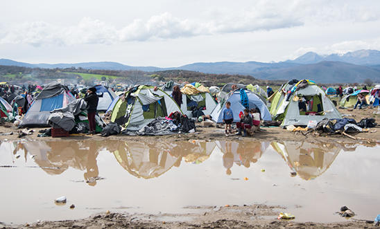 Refugees trapped in Greece