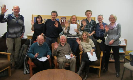 "Members of the York local group say ""Hello"""