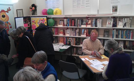Greeting card signing at Adderbury Library