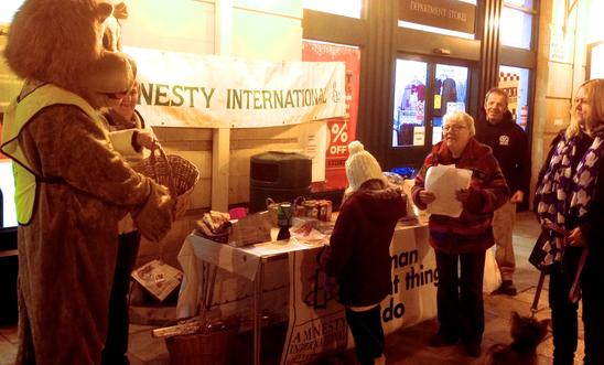 Amnesty stall at Chipping Norton's Christmas Shopping Evening