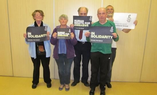 Southend AI Group photo - solidarity with Zimbabwean human rights defenders