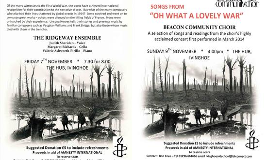 Two events for Remembrance Weekend