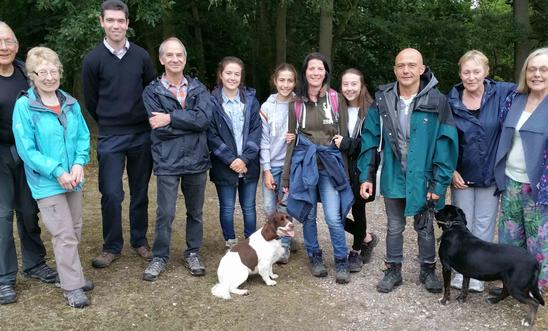 Lingwood Common ramblers plus dogs