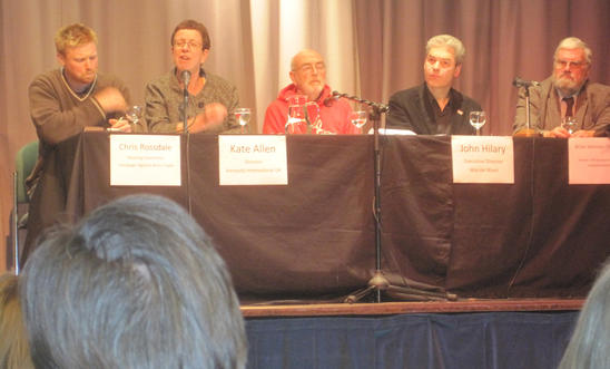 (Left to right) Chris Rossdale, Kate Allen, John Hilary and Brian Johnson-Thomas