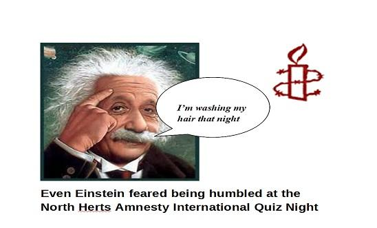 Part of poster for North Herts Amnety International Quiz Night (Oct 2012).