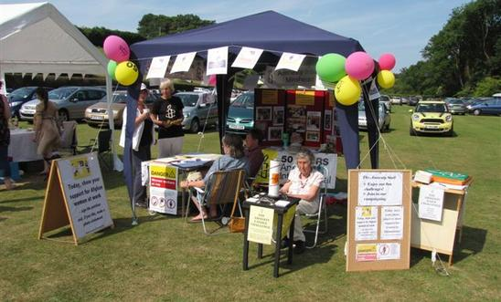 Amnesty stall at the Roadwater Fete