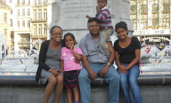 Andargachew Tsege with family in London