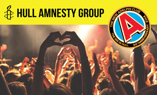 Hull Amnesty at The New Adelphi on Wed 14th October 2015