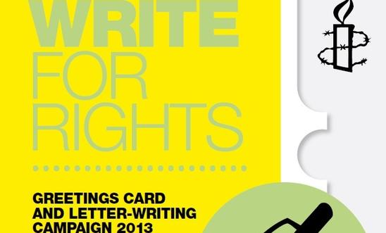 Write for Rights 2013 poster