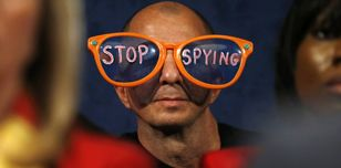 A protester against NSA spying practices © JASON REED/Reuters/Corbis