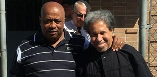 Albert Woodfox and his brother leave prison