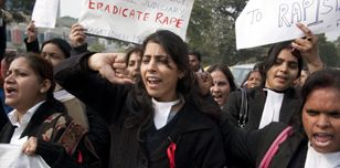 Women protest against a gang rape in India c.Demotix