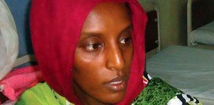 Meriam Ibrahim after giving birth in prison