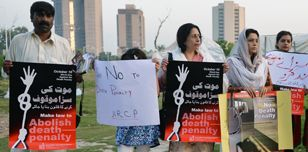 Protest against the death penalty in Islamabad, Pakistan, 2014