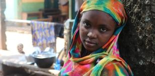 Young girl in Bangui, Central African Republic