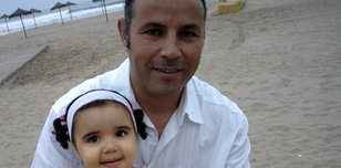 A photo of Ali Aarrass and his daughter taken in 2008.