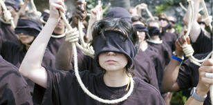 Amnesty protest against juveniles on Iran's death row, 2007