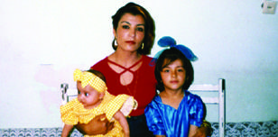 Horia Mosadiq and two of her daughters in Afghanistan Copyright: Private