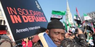 Action Day for Syria, Trafalgar Square, London.