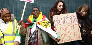 Demonstration calling for the closure of Yarl's Wood Immigration Removal Centre in Essex, 18 November 2017 Natasha Quarmby/REX/Shutterstock