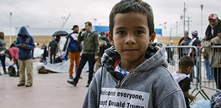 Child migrant at US border