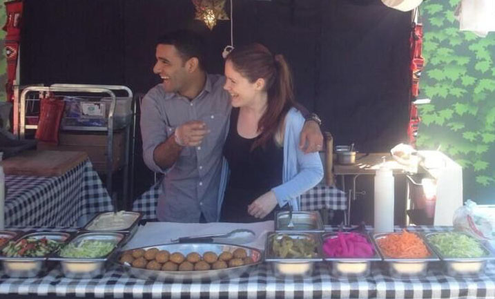 Sarsak and Victoria on their stall at KERB market