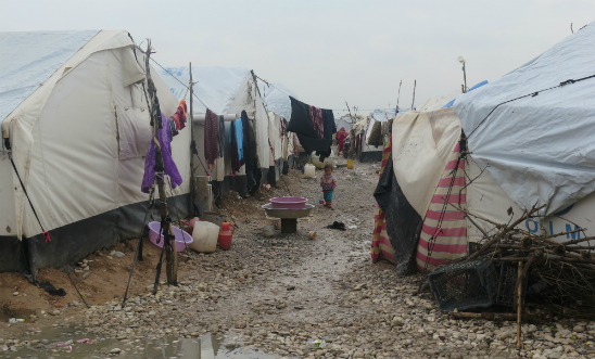 Civilians have been forced into refugee camps