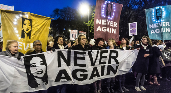 Protests on the streets of Dublin after Savita's death - via William Murphy/infomatique on Flickr, used under Creative Commons license