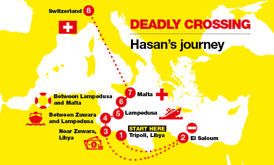 Hasan's journey to Europe